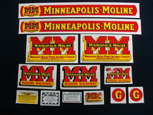 Minneapolis Moline Decals : Minneapolis moline the decal store