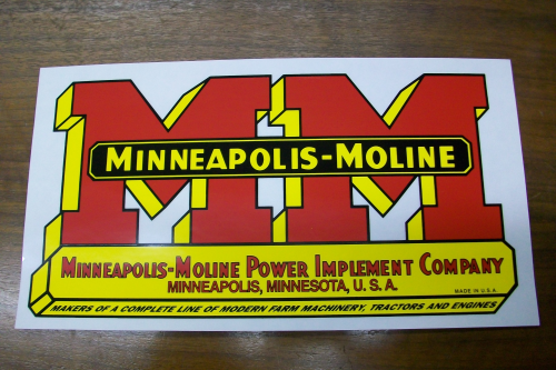 Minneapolis Moline Decals : Minneapolis moline logo decals the decal store