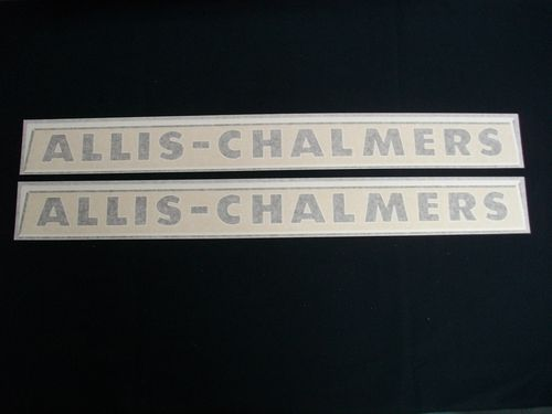 Allis Chalmers Metal Emblem Decals