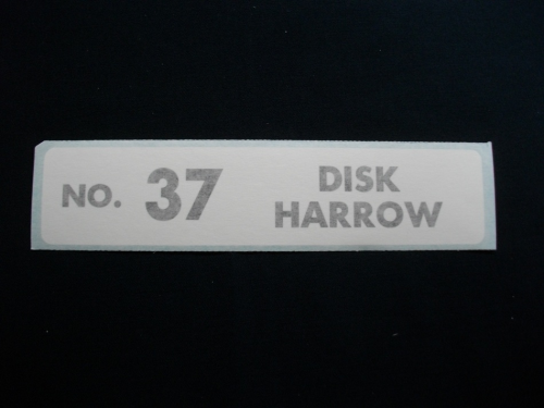 No 37 Disk Harrow