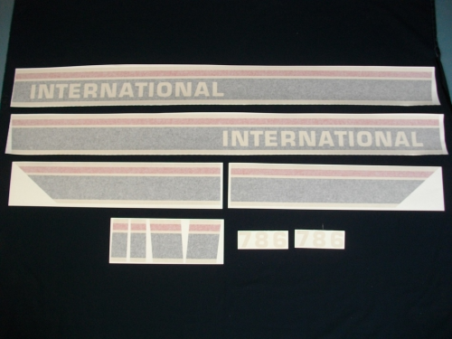 International 786 Red Power Black Stripe