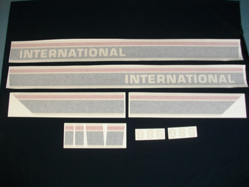 International 986 Red Power Black Stripe