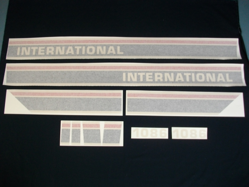 International 1086 Red Power Black Stripe