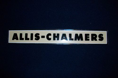 Allis Chalmers Name Decal