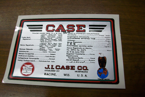 Case Trademark Decal