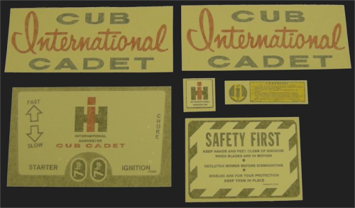 Cub Cadet - The Decal Store