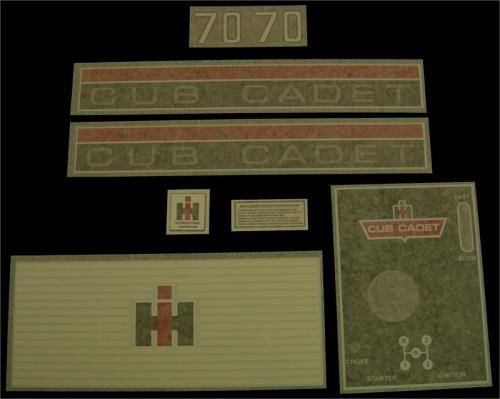 RZT Console Label Decal Cub Cadet 777D13929 MTD RZT L42 L50KW S42 S46 S50 S54