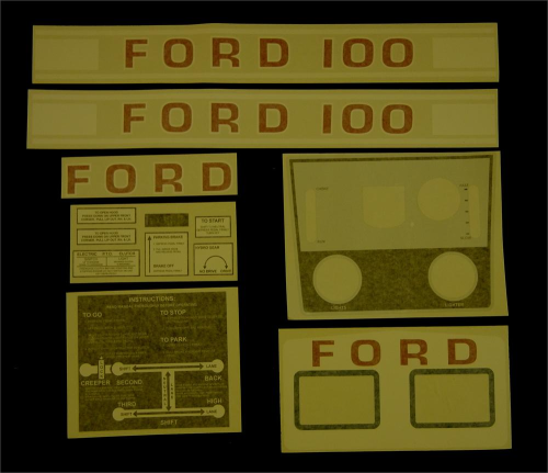 Ford 100 White Manual