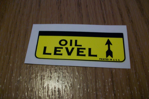 Oil Level Decal