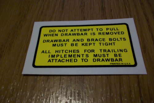 Do not Pull When Drawbar is Removed