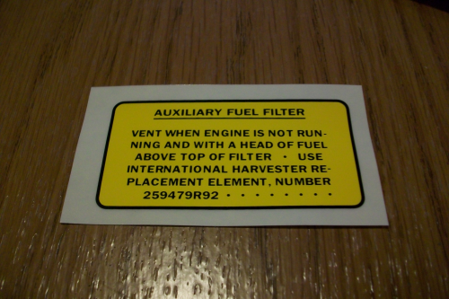 Auxiliary Fuel Filter