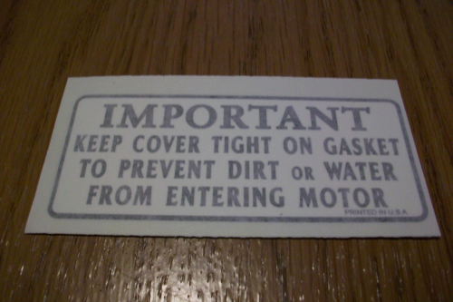 Important- Keep Cover Tight