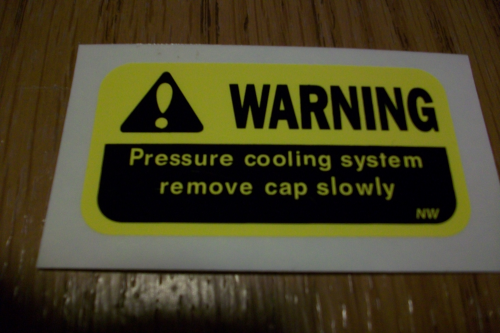 Warning Pressure Cooling System