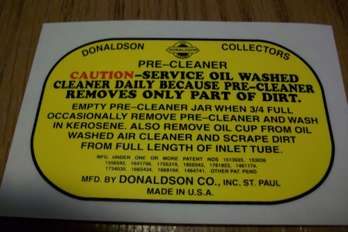 Donaldson  Collectors Pre-Cleaner
