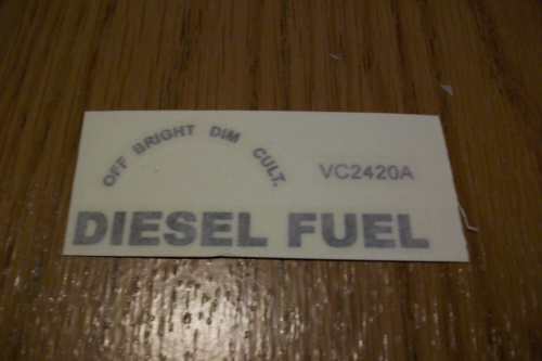 Light Switch-Diesel Fuel