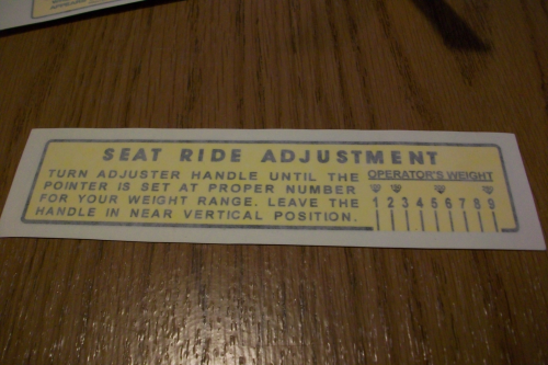 Seat Adjustment