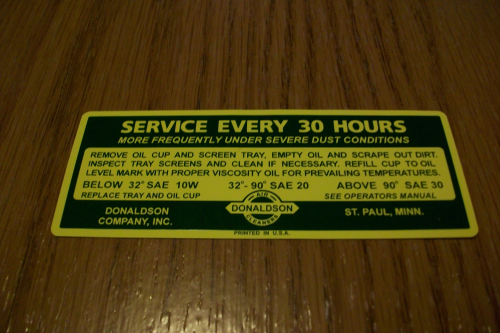 Service Every 30 Hours