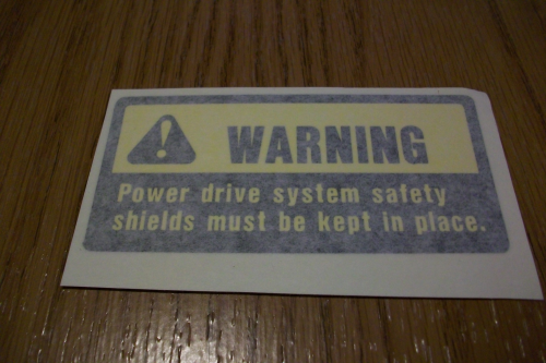 Shield warning