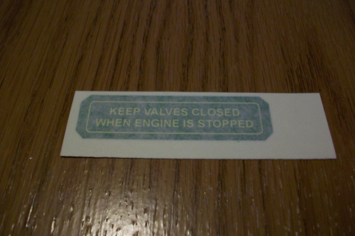 Keep Valves Closed