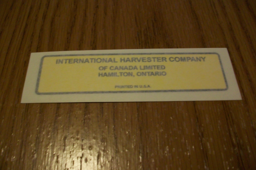Interantional Harvester Company of Canada