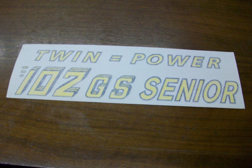 102 GS Senior Model Decal
