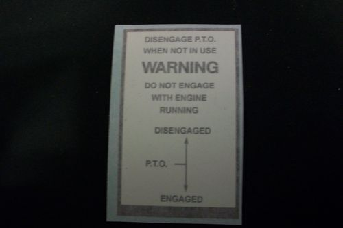 Allis Chalmers Warning