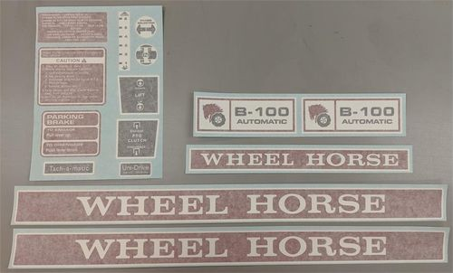 WHEEL HORSE C-160 AUTOMATIC DECAL SET